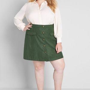 Modcloth Best Kept Secret Button Front Skirt 22